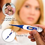 Thermometer for Baby, Kids,Adults,Flexible Tip – Oral or Rectal Medical Thermometer Accurate, Fast