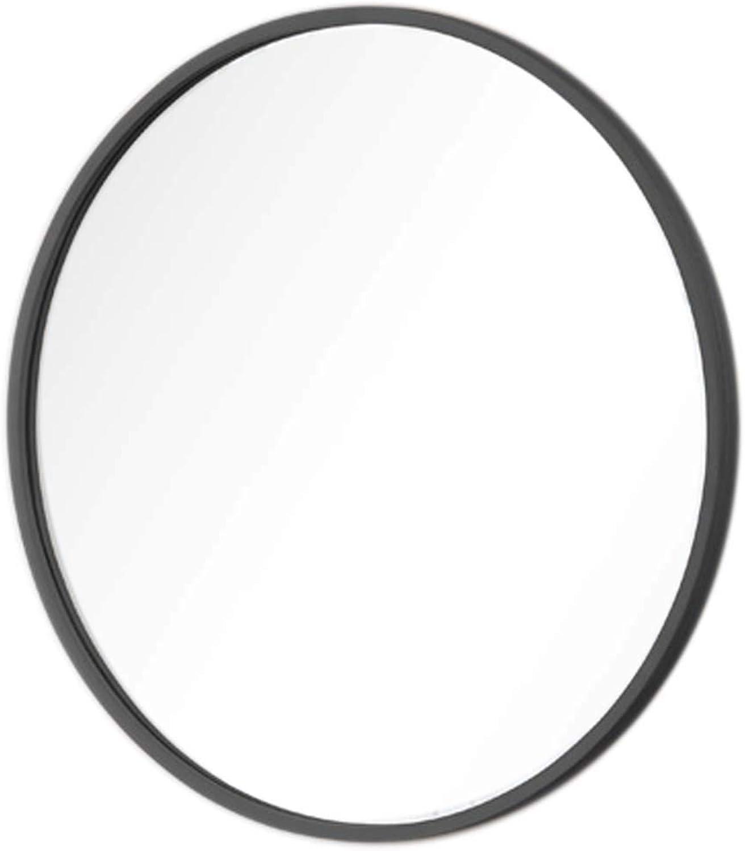 Round Makeup Mirrors Concise Wood Frame Bedroom Bathroom Vanity Mirror Wall Decorative Hangs Mirror Living Room Corridor Wall Mounted Mirror(19.7-31.5Inch)
