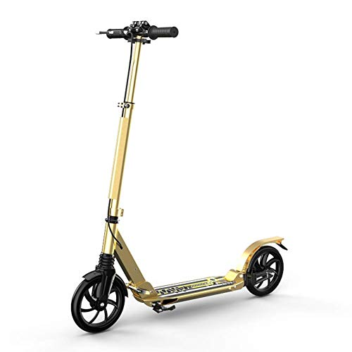 Best Review Of Adjustable Height Unisex Adult Kick Scooters with Handbrake, Hight-Adjustable Foldabl...