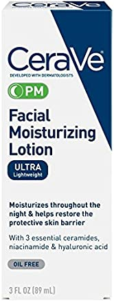 CeraVe Moisturizing Facial Lotion PM, 3 Ounce