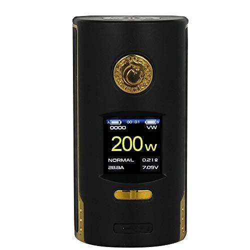 Kriemhild 220W Akkuträger (Mod) - von Vapefly | TFT Farb-Display|VW, TC, Curve, Memory - Farbe: schwarz-gold