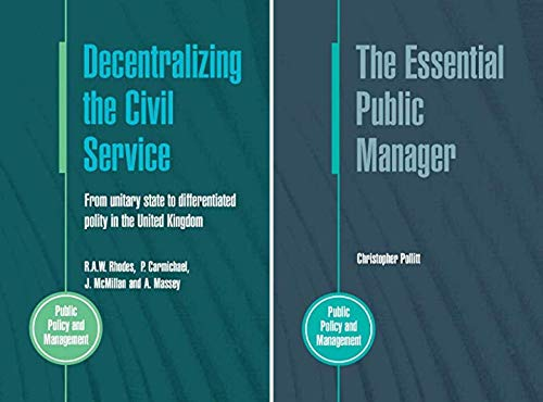 Public Policy and Management (2 Book Series)