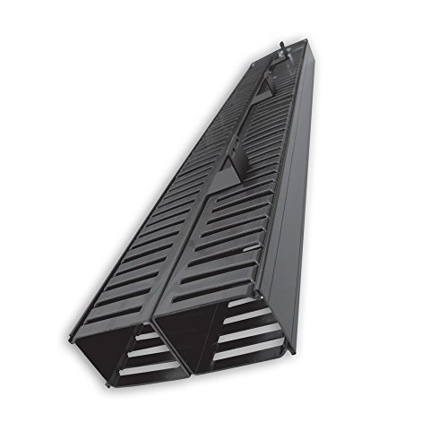 Quest Manufacturing 2-Post Rack Vertical Cable Manager Duct with Cover, 70 Cables per Side, 6', Black (VR-07-140)