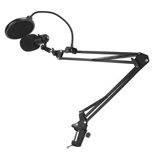 Microfone condensador de ferro, kit de áudio de microfone plug and play, alta precisão de alta sensibilidade para computador desktop