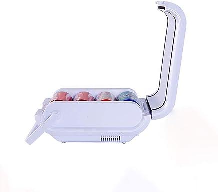 FEN&G Glacière électrique Portable équipée,Cools & Heats, Capacité de 3 litres, Refroidissement 4 canettes, 100% sans fréon & Ecologique, Comprend des fiches pour Chargeur de Voiture 12V - Blanc