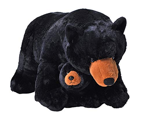 Wild Republic Jumbo Mom and Baby Black Bear, Stuffed Animal, 30 inches, Gift for Kids, Plush Toy, Fill is Spun Recycled Water Bottles