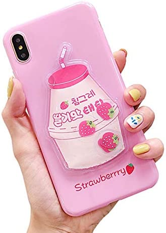 UnnFiko Squishy Liquid Fruit Case Compatible with iPhone 6 Plus iPhone 6s Plus Creative Milk product image