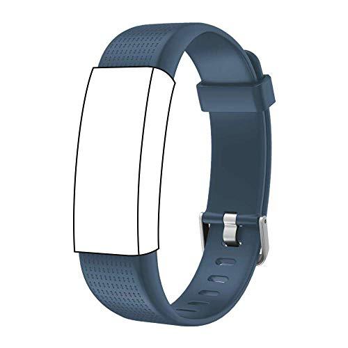 endubro Ersatzarmband für Fitness Tracker ID130 Plus Color HR & viele weitere Modelle aus TPU Skin-Friendly mit antiallergischem Verschluss (Blau)
