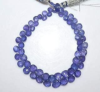 Gems-World Jewelry 1 Strand Tanzanite Heart Shape Beads - Tanzanite Faceted Briolette, Tanzanite Briolette, 4.5x4.5-8x8 mm, 8