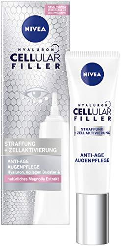NIVEA Hyaluron Cellular Filler Anti-Age Augenpflege (15 ml), straffende Augencreme mit Magnolia Extrakt, Feuchtigkeitspflege mildert Falten und polstert auf