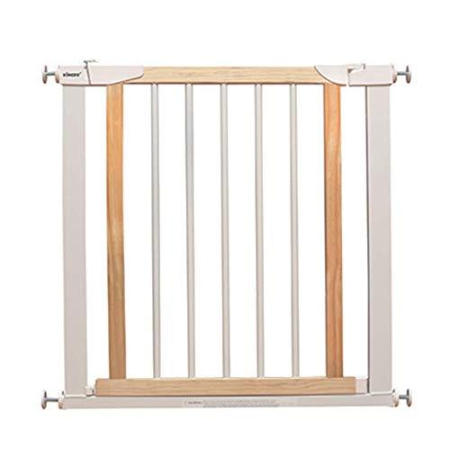 Huo Blanc en Bois Barrière de Sécurité pour Bébé Extension Safety 1st Ajustement sous Pression Rétractable Porte pour Animaux Escaliers (Size : 96-103cm)