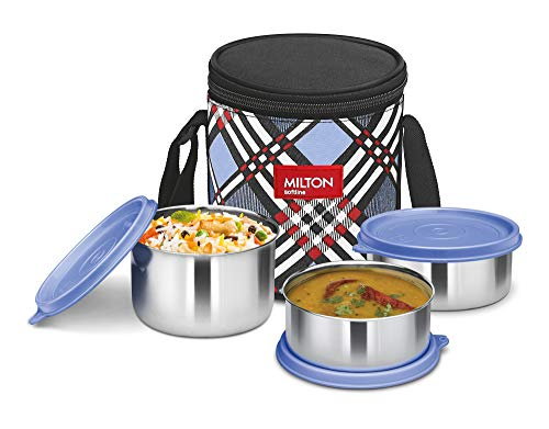 Milton Smart Meal Insulated Lunch Box, Set of 3, Blue