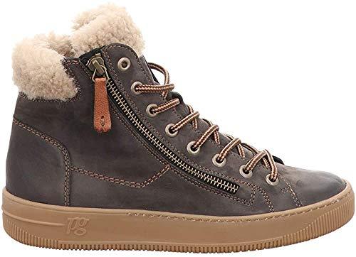 Paul Green Damen Hochschaft-Sneaker Grau Leder 38 1/2