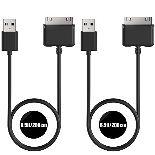 [2-Pack] TUSITA Charger Compatible with Barnes & Noble Nook HD 7 BNRV400,Nook HD+ 9 BNTV600 - USB Charging Cable 200cm - Tablet PC Accessories