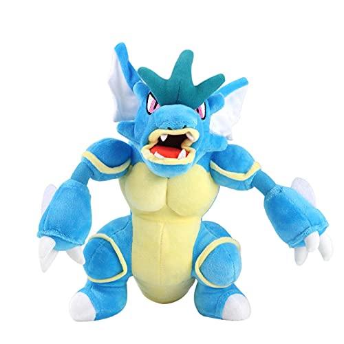 YYhkeby Juguetes de Peluche de dragón Azul, algodón de Peluche de Relleno Suave Premium, Almohada de Abrazos de Anime Lindo Animales de Peluche Juguetes Suaves, para niños, niñas (29cm) Jialele