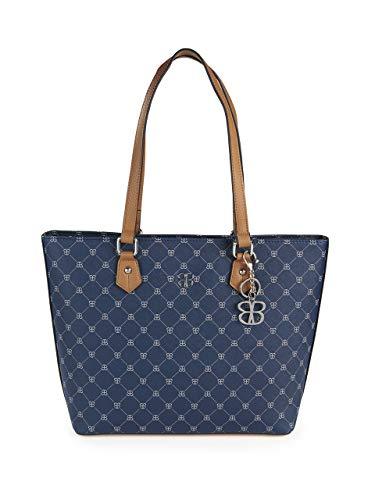 BASLER Damen Handtasche mit Schulterriemen und Logo-Muster