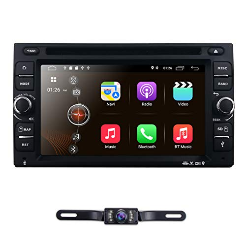 6.2' inch Android 10 Double Din in Dash Radio Car Video Receiver DVD Player Bluetooth WiFi 4G GPS Navigation System Rear Camera