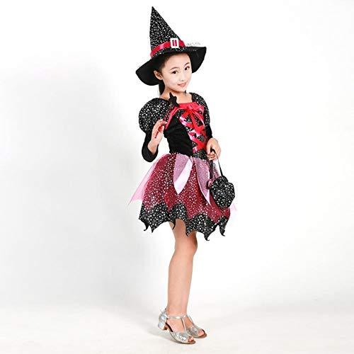 Lysee Party Hats - Halloween Witch Costume,Witch Cosplay,Toddler Costume,Princess Dresses,Witch hat,Classic Halloween Fancy Dress - (Color: 120cm)