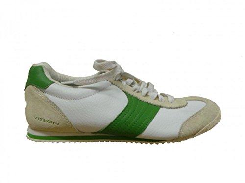 Vision Street Wear Skateboard Schuhe Sneakers Low Beige/Green, Schuhgrösse:40.5