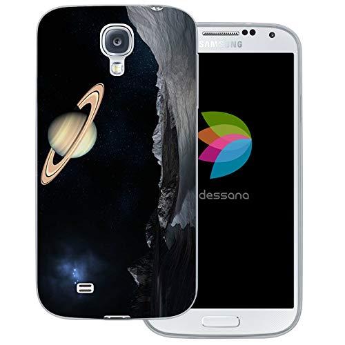 dessana Universum transparente Schutzhülle Handy Case Cover Tasche für Samsung Galaxy S4 Weltraum Saturn