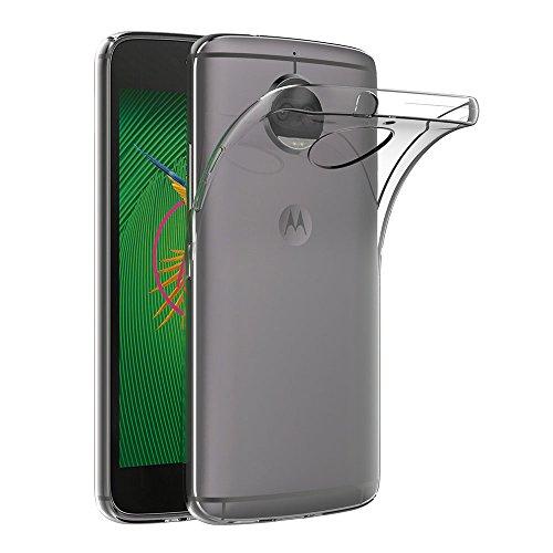 AICEK Cover Moto G5S Plus, Cover Motorola Moto G5S Plus Silicone Case Molle di TPU Trasparente Sottile Custodia per Lenovo Moto G5S Plus (5.5 Pollici)