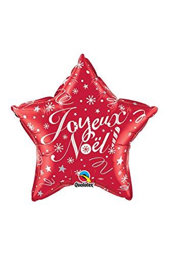 SARL ABC Ballon Etoile Joyeux Noël Couleur Rouge