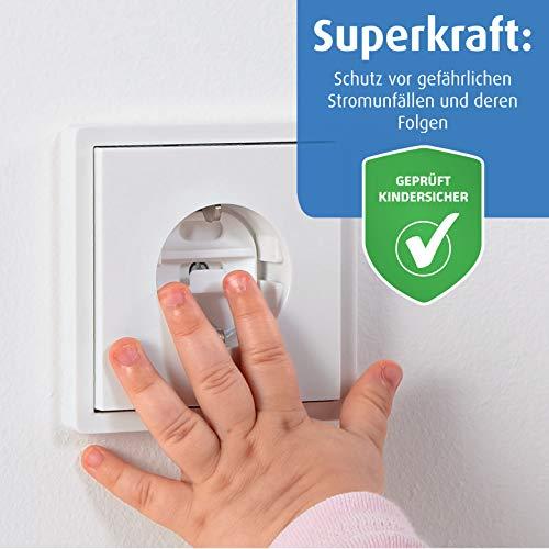 pure stekkerdoos met sleutel, 6 + 1 stuks, wit, het origineel van de uitvinder van de stopcontactbescherming
