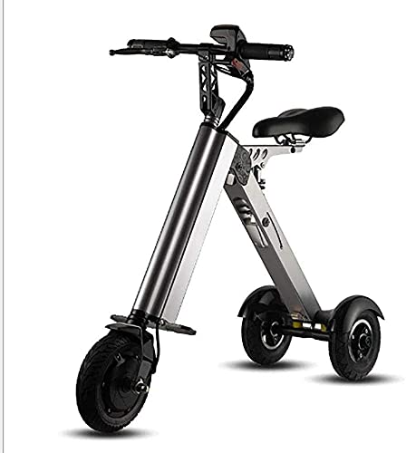DKBE Triciclo eléctrico Plegable pequeño Scooter Masculino y Femenino portátil de Ocio Mini Nuevo Coche de batería