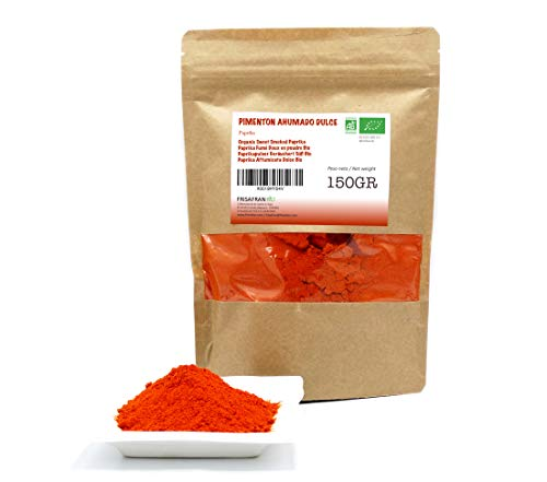 FRISAFRAN - Pimentón Ecologico (Pimentón Ahumado Dulce, 150Gr)