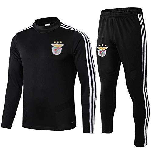 MVNTOO Club de fútbol Europeo, Traje de Chaqueta de fútbol para Hombre, Camiseta de Entrenamiento, Hecho por fanáticosff- - Fútbol987-negro_L