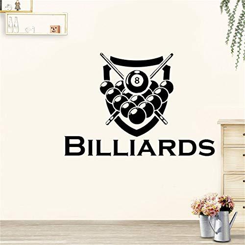 Wandtattoo Wohnzimmer Billiards Sticker Snooker Decal Posters Fit Parede Decor Mural Billiards Sticker for pool room