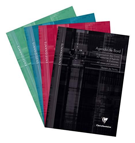 Clairefontaine–Agenda escolar de deberes, 6columnas, 144páginas, 21x 29,7cm, colores surtidos