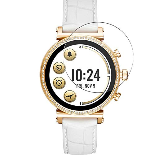 Vaxson 3 Unidades Protector de Pantalla de Cristal Templado, compatible con Michael Kors MKT5067 Smart Watch, 9H Película Protectora Film Guard Nueva Versión