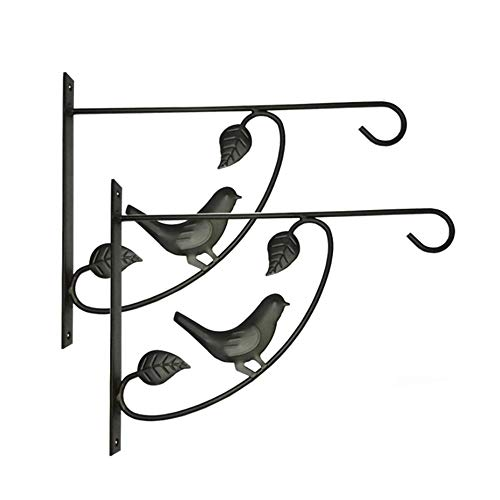 Belleashy Hanging Brackets Hängenden Korb Brackets Pflanze Haken Metall Outdoor Garten Wandhaken for Patio Lawn Yard (Color : As Shown, Size : 27x5x37cm)