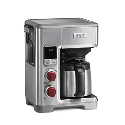 Wolf Gourmet 10-Cup Coffee Maker, Stainless Steel