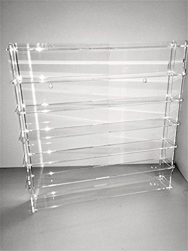 Técnicas Láser 1:43.4.2L6B/24.T Vitrina De Metacrilato, Transparente/Fondo Transparente, Montada mide 50x50x7 cm (altoxanchoxfondo), Set de 11 Piezas