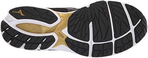 Mizuno Wave Rider 22 Chaussures de Course pour Homme - Noir - Noir/Or, 43 EU
