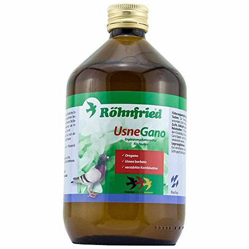 Röhnfried UsneGano - mit Bartflechte Usnea Barbata & Oregano für Brieftauben (500 ml)