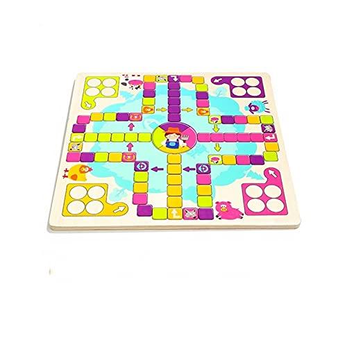 Z-COLOR Glad flyga schackbarns leksaker för barn, tjejer, pojkar, trä tidig utbildning leksaker i 36 månader eller mer Flying chess game