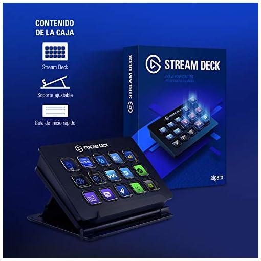 Elgato Stream Deck - Controlador para contenido en directo, 15 teclas LCD personalizables, soporte ajustable, Windows 10… 6