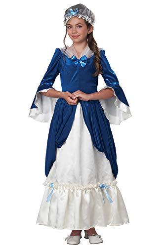 California Costumes Colonial Era Dress/Martha Washington Child Costume, Medium