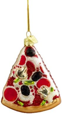 Noble Gems Kurt Adler 3 1 2 Inch Glass Pizza Slice Ornament product image