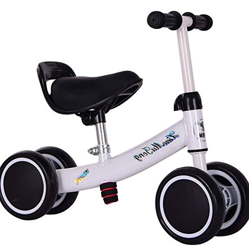 YumEIGE Loopfiets voor kinderen, dubbele volledige schijf, wielen geschikt voor 12 maanden - 2 jaar oud peuter, loopfiets blauw, groen, roze, rood, wit wit