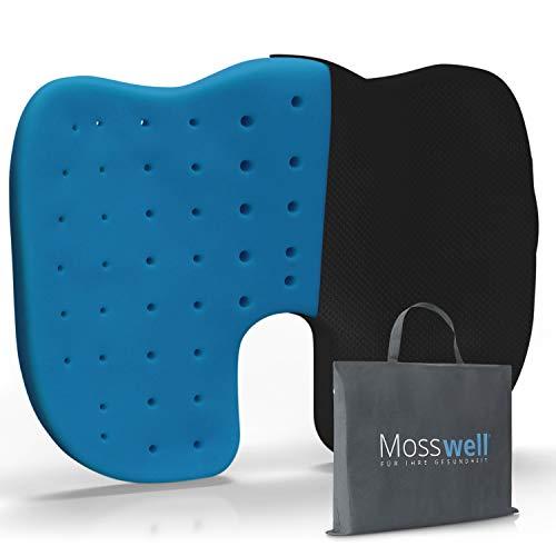 Mosswell® Sitzkissen| Perforiertes Steißbeinkissen für mehr Sitzkomfort auf dem Bürostuhl | Sitzkissen für Bürostuhl & Home Office