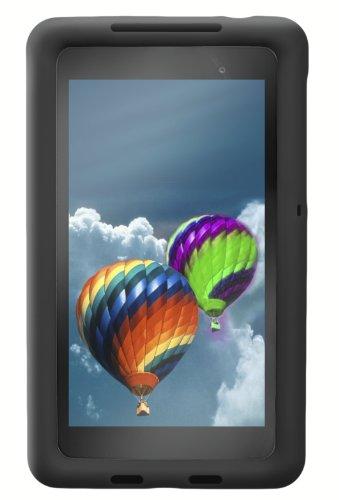 Bobj Rugged Case for Nexus 7 FHD 2013 Model Tablet - BobjGear Custom Fit - Patented Venting - Sound Amplification - BobjBounces Kid Friendly (Not for 1st Generation 2012 Nexus 7) (Bold Black)