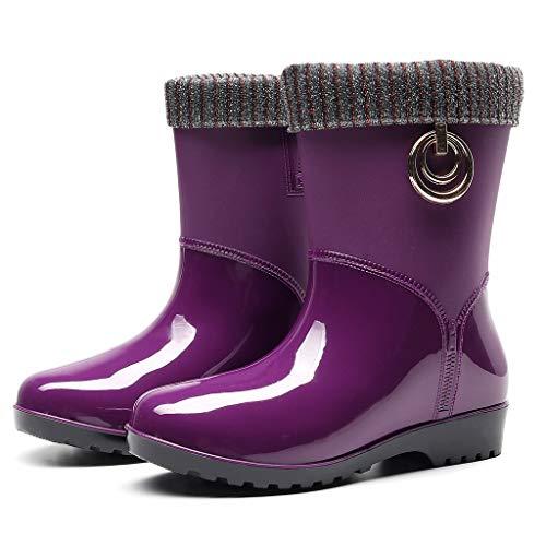 Dames Korte Regenlaarzen Waterdichte Enkellaarsjes Winter Warme Sneeuwlaarzen Dames Antislip Regenlaarzen Outdoor Water Schoenen