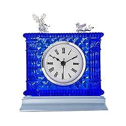 HAOFAY Retro Mantel/European Desk Clock Crystal Clear Bedroom Quartz Clock Desk & Shelf Clock