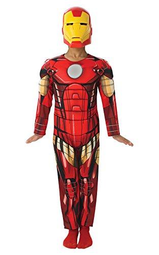Rubie's IT887751-L Kostüm zur Verkleidung: Iron Man Deluxe, mit Muskeln, Größe: L
