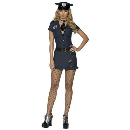 SMIFFYS Costume Fever da poliziotto malizioso, con vestito, cravatta, cappello e cintura