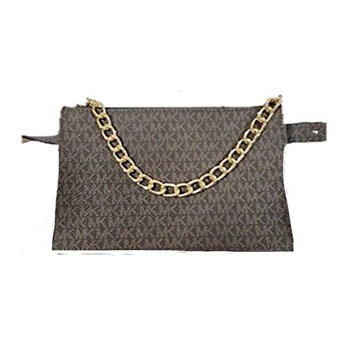 Michael Kors Brown MK Signature Fanny Pack Belt Bag (Medium)